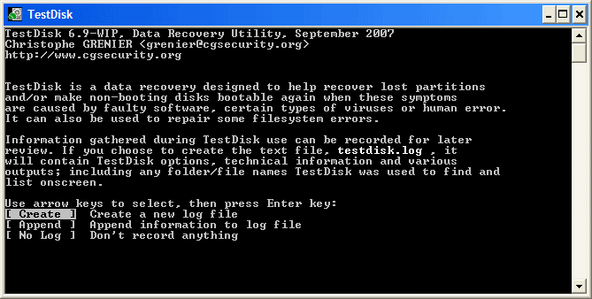 TestDisk – Universal Partition and File Data Recovery